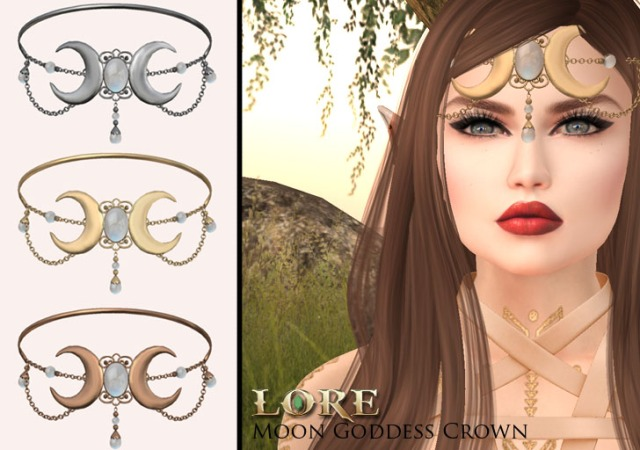Moon goddess crown ad