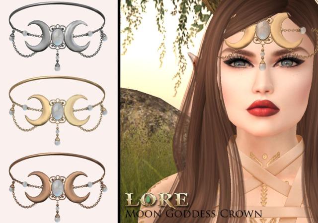 Moon goddess crown ad