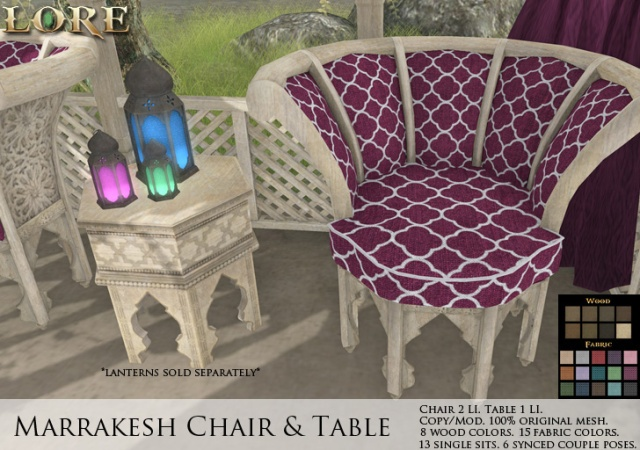 Marrakesh Chair Table Ad