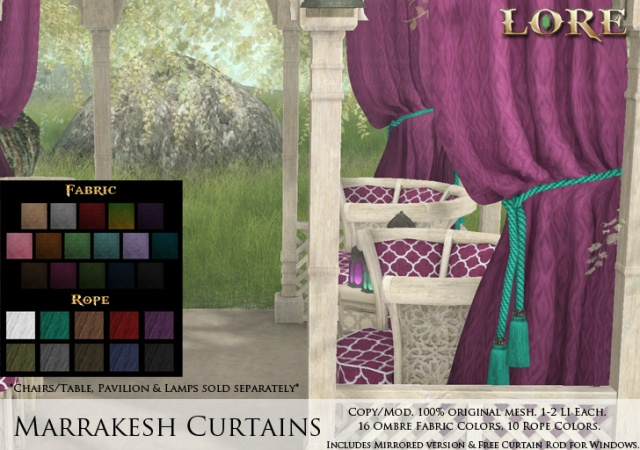Marrakesh Curtains Ad