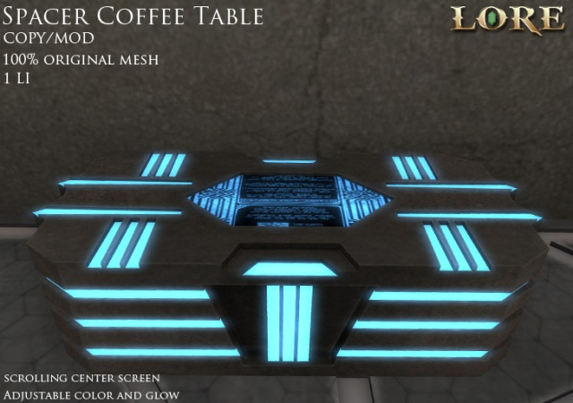 Spacer Coffee Table Ad
