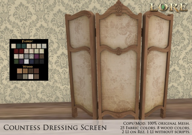 Countess Dressing Screen Ad