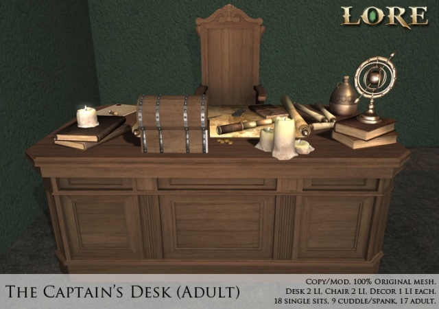 Captain's Desk Adult ad