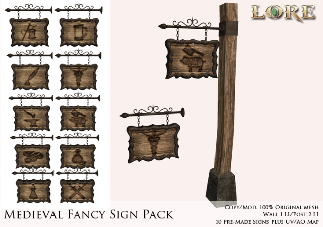 Medieval Fancy Sign Ad