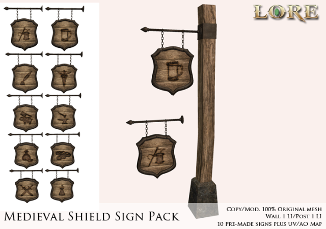 Medieval Shield Sign Ad