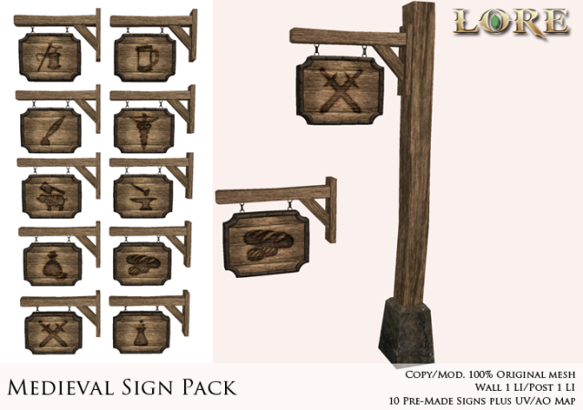 Medieval Sign Pack Ad