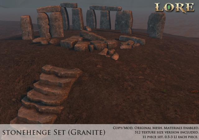 Stonehenge Set Ad Granite