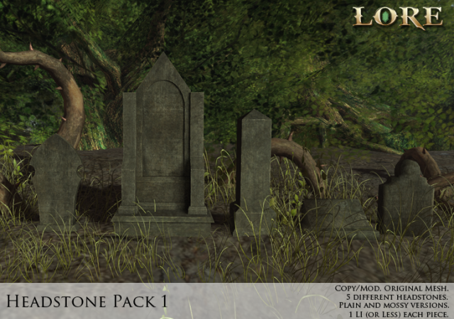 Headstone Pack 1 ad