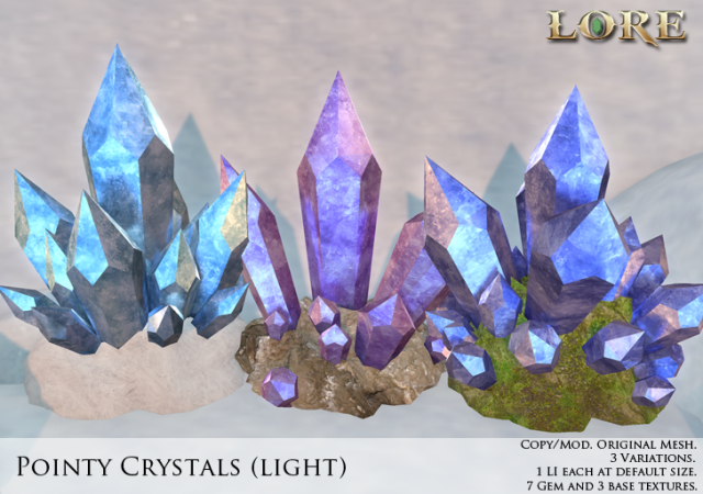 Pointy crystals light ad