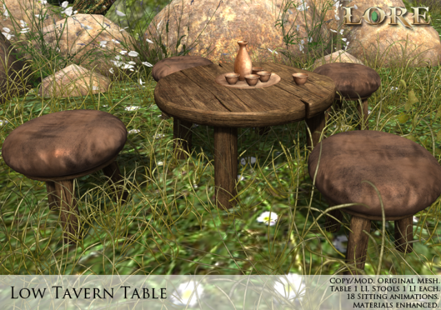 low tavern table ad