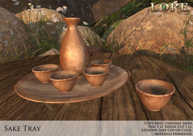 Sake tray ad