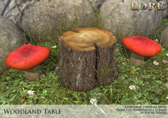 Woodland Table ad