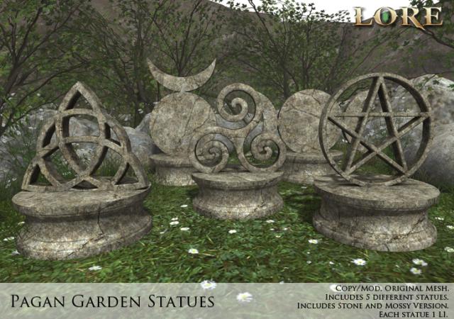 Pagan Garden Statue Ad