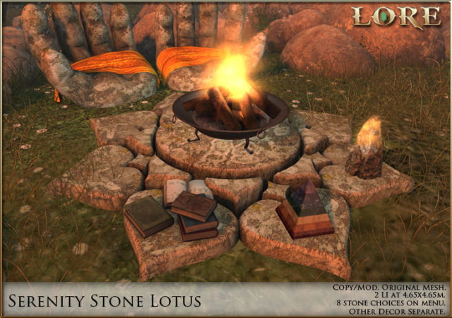 Serenity Stone Lotus Ad