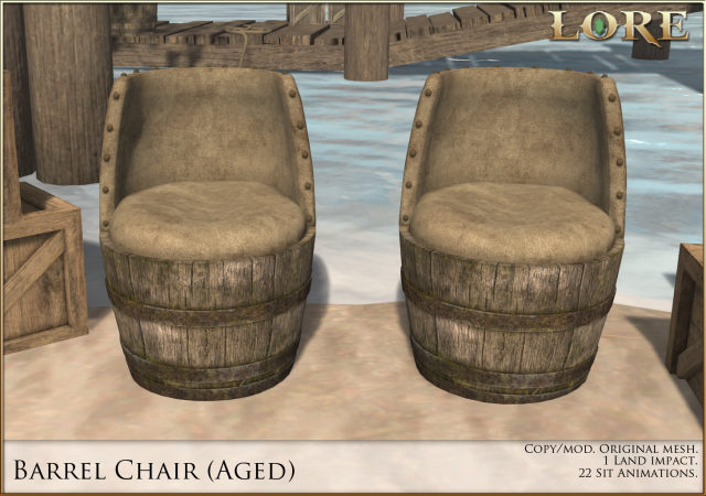 Barrel Chair Aged Ad