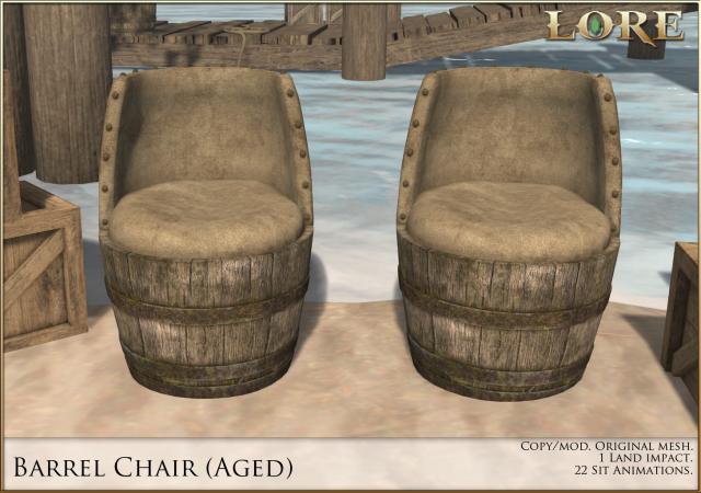 Barrel Chair Aged Ad