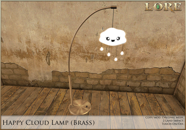 Happy Cloud Lamp brass