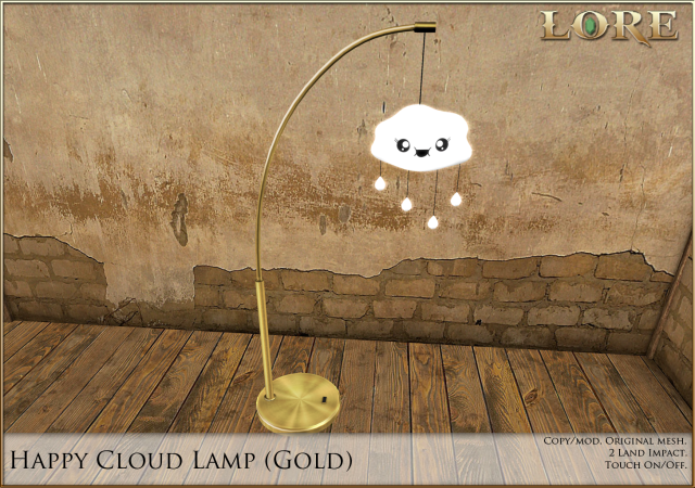 Happy Cloud Lamp gold