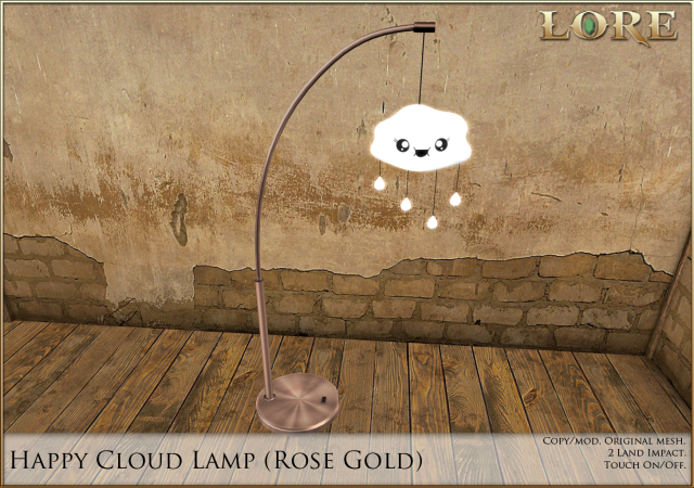 Happy Cloud Lamp rose gold