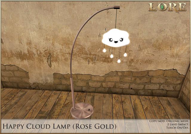Happy Cloud Lamp rose gold