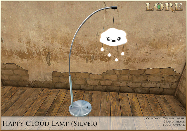 Happy Cloud Lamp silver
