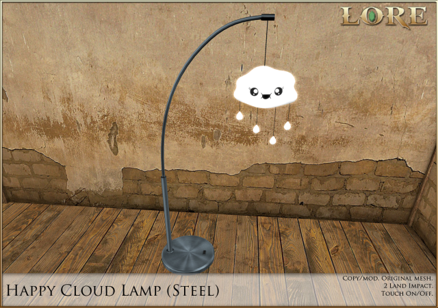 Happy Cloud Lamp steel