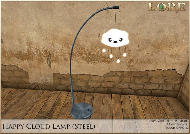 Happy Cloud Lamp steel
