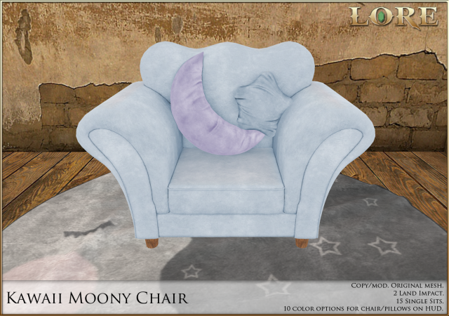 kawaii moony chair