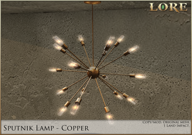 Sputnik lamp copper ad