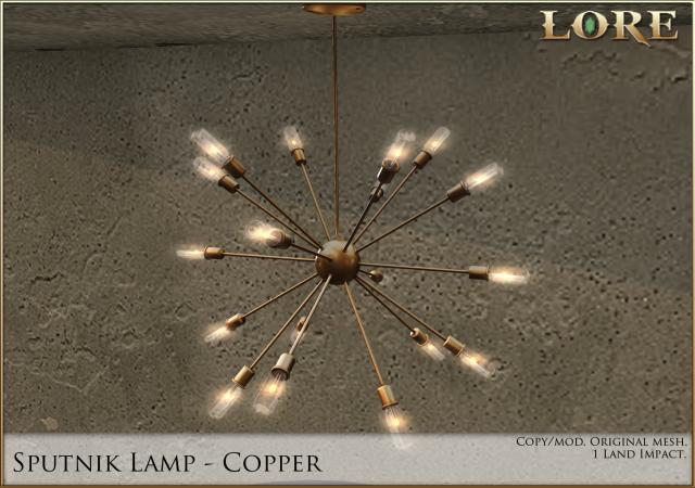 Sputnik lamp copper ad