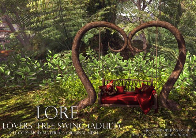 lovers' tree swing adult ad