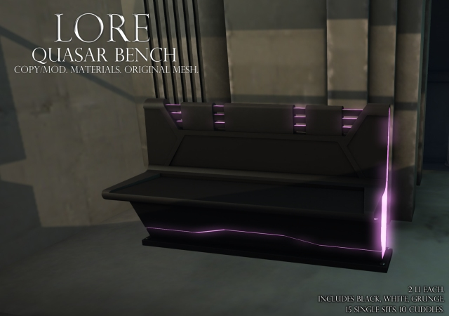 quasar bench ad black