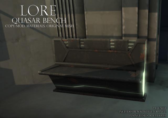 quasar bench ad grunge