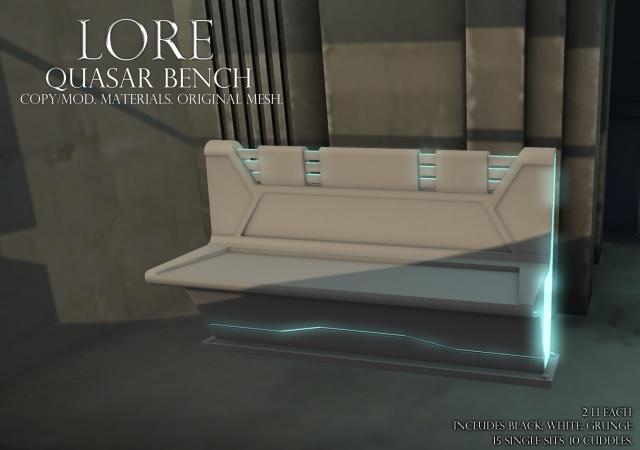 quasar bench ad white