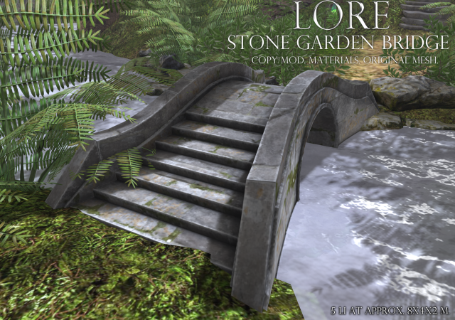 stone garden bridge ad