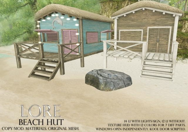 beach hut ad