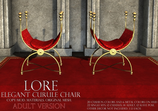 Elegant Curule Chair Ad Adult