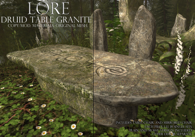 druid table granite ad