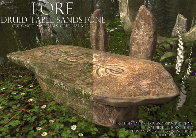 druid table sandstone ad