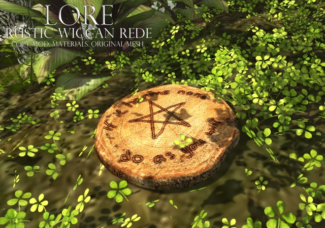 rustic wiccan rede ad