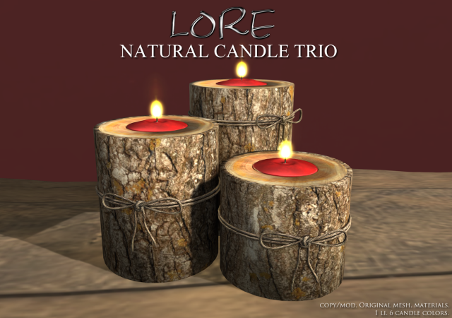 Natural Candle Trio Ad