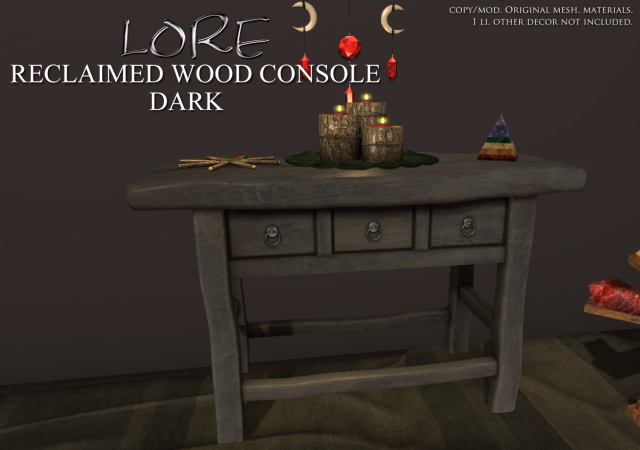 Reclaimed Wood Console Ad DARK