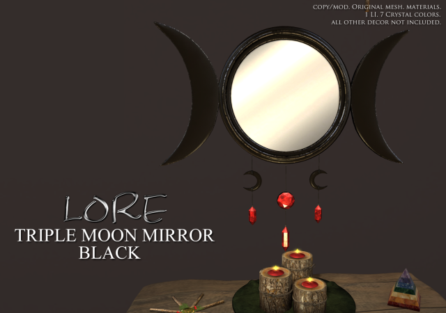 Triple Moon Mirror Ad Black