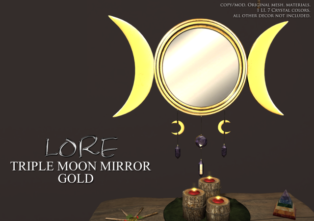 Triple Moon Mirror Ad Gold