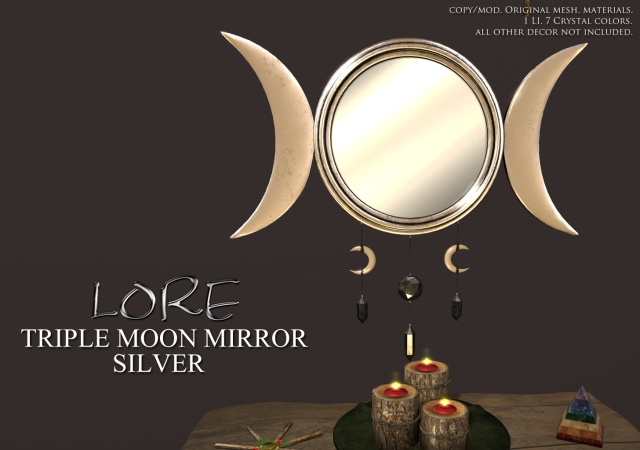 Triple Moon Mirror Ad Silver