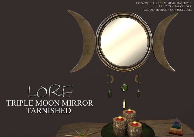 Triple Moon Mirror Ad Tarnished