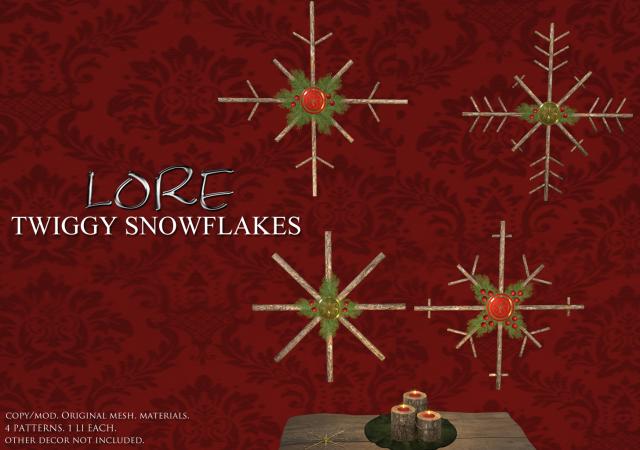 Twiggy Snowflake Ad
