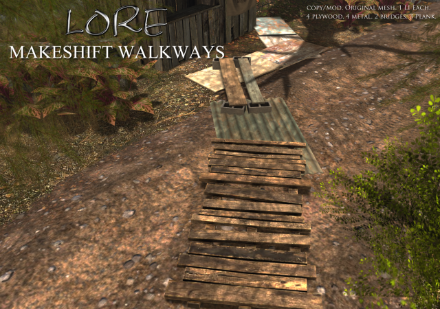 makeshift walkways ad